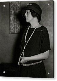 Ethel Barrymore Acrylic Print by Nicholas Muray
