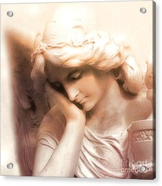 Ethereal Angel Art - Dreamy Surreal Peaceful Comforting Angel Art Acrylic Print by Kathy Fornal