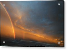 Ethereal Clouds And Rainbow Acrylic Print by Greg Reed
