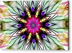 Ethereal Colors Mandala Acrylic Print