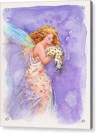 Ethereal Daisy Flower Fairy Acrylic Print by Judith Cheng