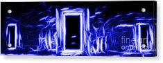 Ethereal Doorways Blue Acrylic Print