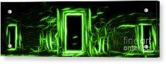 Ethereal Doorways Green Acrylic Print