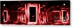 Ethereal Doorways Red Acrylic Print