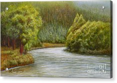 Ethereal River Acrylic Print