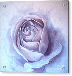 Acrylic Print featuring the painting Ethereal Rose by Sandra Phryce-Jones