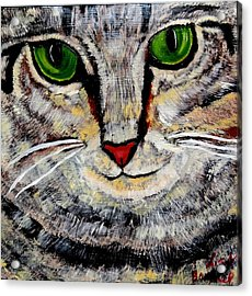 Ethical Kitty See's Your Dilemma Acrylic Print