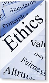 Ethics Concept Acrylic Print by Colin and Linda McKie