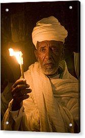 Ethiopian Holy Fire Ceremony Acrylic Print by Kobby Dagan