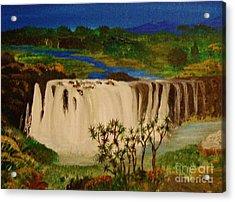 Ethiopian Nile Waterfall Acrylic Print by Brigitte Emme