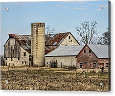 Ethridge Tennessee Amish Barn Acrylic Print by Kathy Clark