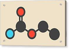Ethyl Carbamate Carcinogenic Molecule Acrylic Print by Molekuul