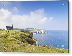 Etretat Acrylic Print by Colin and Linda McKie