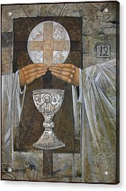 Eucharist Acrylic Print by Mary jane Miller