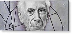 Euclid- Bertrand Russell Acrylic Print by Simon Kregar