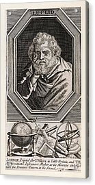 Euclid  Mathematician Of Alexandria Acrylic Print by Mary Evans Picture Library