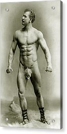 Eugen Sandow In Classical Ancient Greco Roman Pose Acrylic Print
