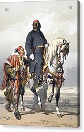 Eunuch Of The Seraglio On A Fine Arab Acrylic Print by Amadeo Preziosi
