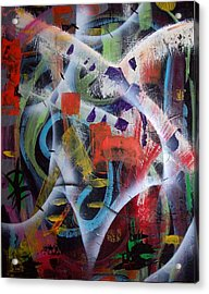 Acrylic Print featuring the painting Euphoria by Yul Olaivar