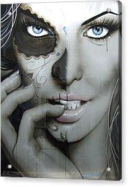 Sugar Skull - ' Euphoric Angel ' Acrylic Print by Christian Chapman Art
