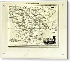 Eure, France Pittoresque, Map Acrylic Print by Litz Collection