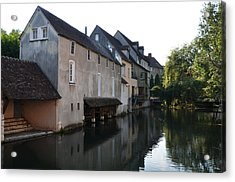 Eure River And Old Fulling Mills In Chartres Acrylic Print
