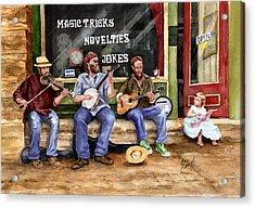 Eureka Springs Novelty Shop String Quartet Acrylic Print by Sam Sidders