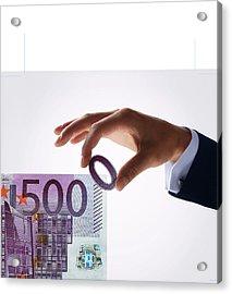 Euro Inflation Acrylic Print by Smetek