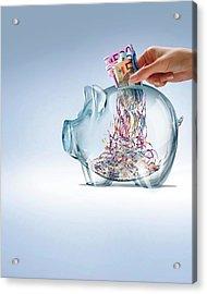 Euro Savings Crisis Acrylic Print by Smetek