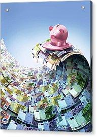 Euro Savings Acrylic Print by Smetek