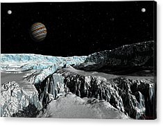 Europa's Icefield  Part 2 Acrylic Print