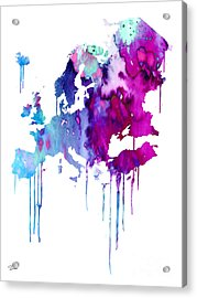 Europe 2 Acrylic Print by Watercolor Girl