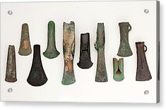 Europe Bronze Age Axes From Early To Late Acrylic Print
