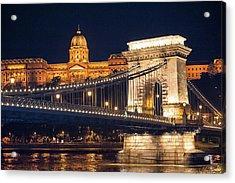 Europe, Hungary, Budapest, Chain Acrylic Print