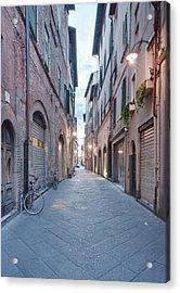 Europe, Italy, Tuscany, Lucca, Street Acrylic Print