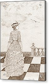 European Lady In The 19 Century Acrylic Print