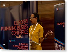 European Running Business Conference Acrylic Print by Ulrich Roth