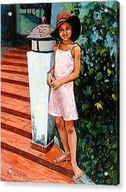 Eva, 2006 Oil On Canvas Acrylic Print by Tilly Willis