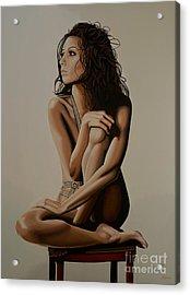 Eva Longoria Painting Acrylic Print by Paul Meijering