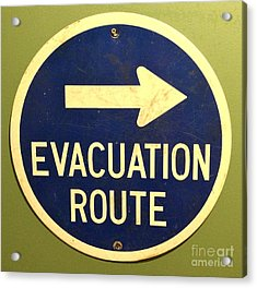 Evacuation Route Acrylic Print