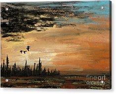 Evading A Storm Acrylic Print by R Kyllo