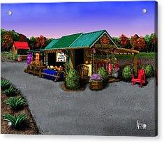 Eva's Farm Market Acrylic Print by Patrick Belote