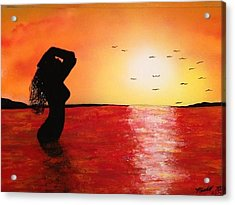 Acrylic Print featuring the painting EVE by Michael Rucker