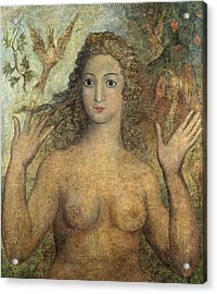 Eve Naming The Birds Acrylic Print by William Blake