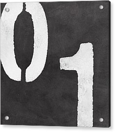 Even And Odd Numbers Acrylic Print