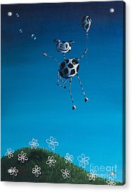 Even Cows Have Strange Dreams By Shawna Erback Acrylic Print by Shawna Erback