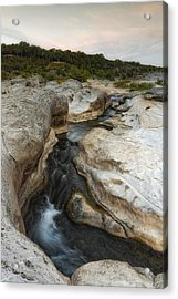 Even Flow At The Pedernales Texas Hill Country Acrylic Print by Silvio Ligutti