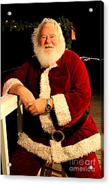 Even Santa Needs A Break Acrylic Print by Kathy  White