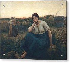 Evening, 1860 Oil On Canvas Acrylic Print