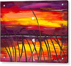 Evening At Lake Butler Acrylic Print by Jessilyn Park